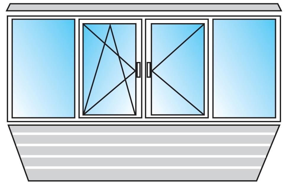 Остекление балконов ПВХ 1