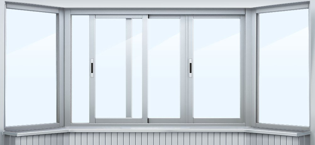 Алюминиевое остекление балконов 1