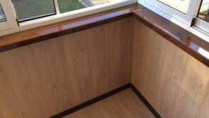 Отделка балкона ПВХ 10
