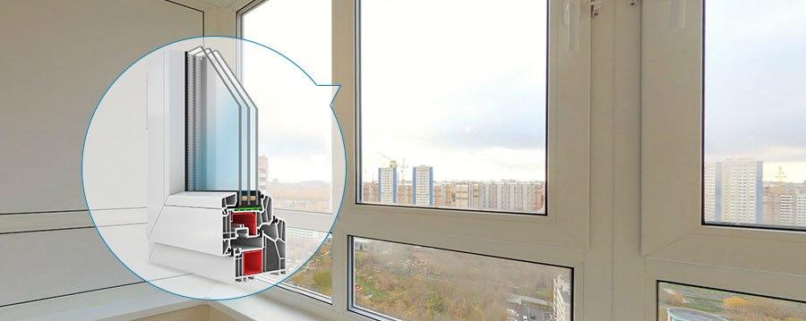 Теплое остекление балкона 1