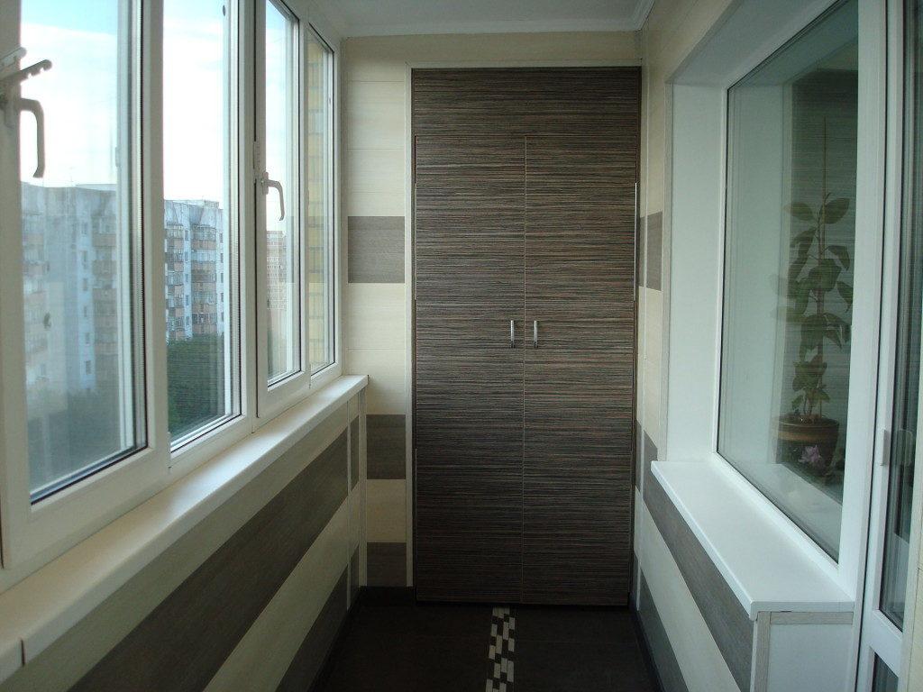 Отделка балкона ПВХ 9