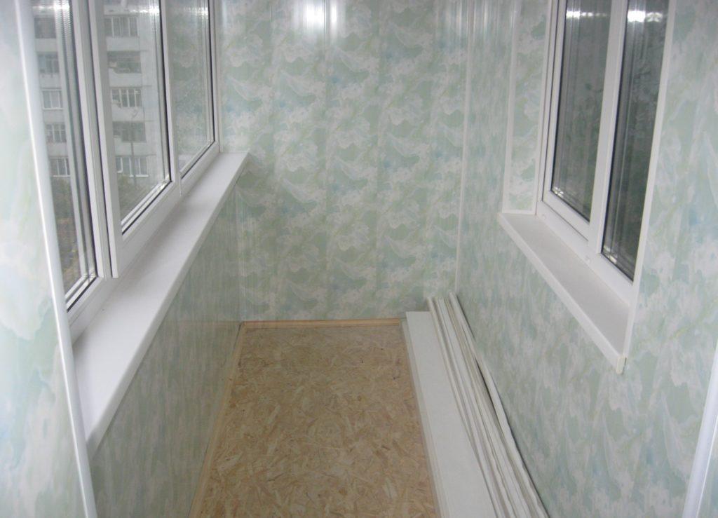 Отделка балкона ПВХ 8